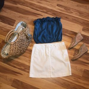 3 for $20 J Crew Stretch Casual Mini Skirt White 2